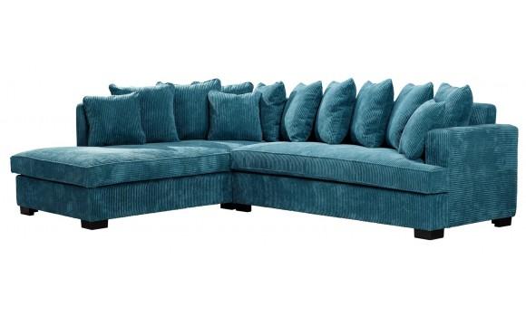 Canapé d'angle samoa bleu