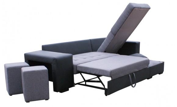 Canapé angle réversible et convertible napoli
