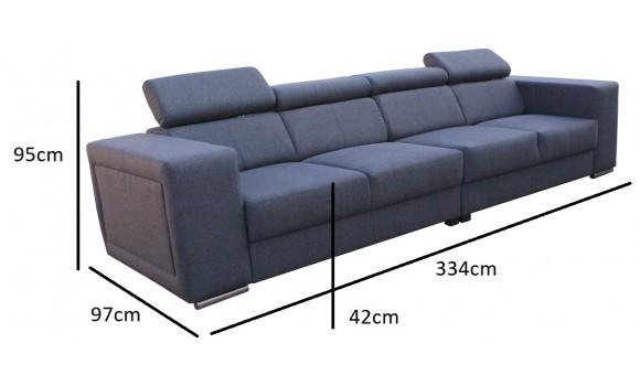 Canapé 4 places carlos gris