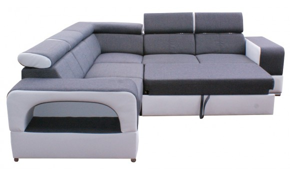 Canapé angle réversible et convertible faro
