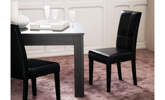 Chaise simili cuir Noir - Le Depot Canapé
