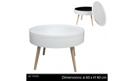 Table basse plateau amovible