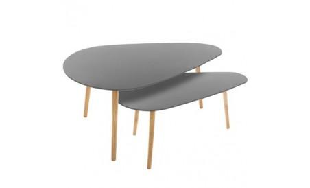 Table basse Mileo Blanc x2