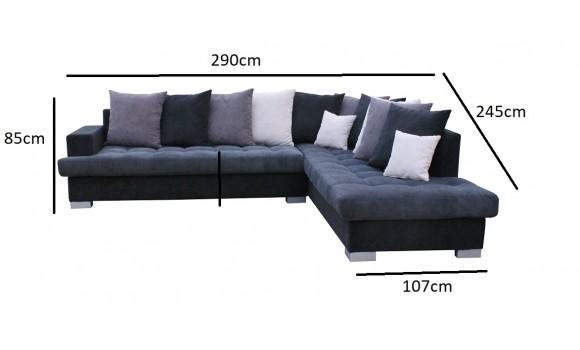 Canapé angle droit lena