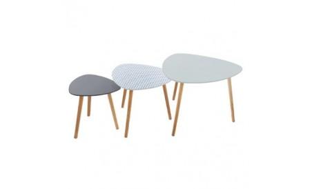 Table gigogne Mileo x3