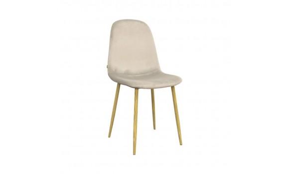 Chaise velour stockholm jaune