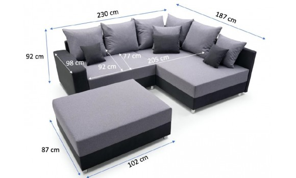 Canapé d'angle malcom