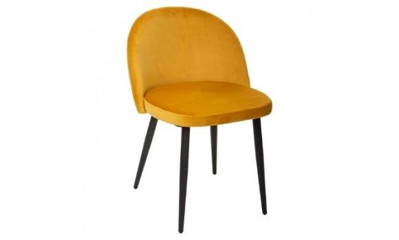 Chaise en velours nael gris