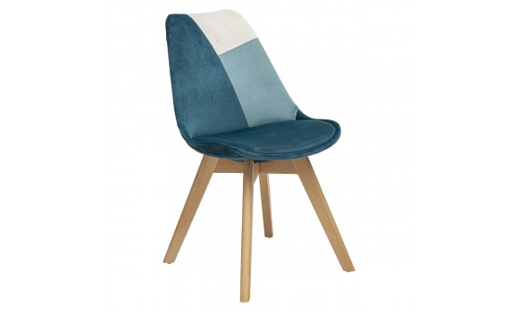 Chaise baya patchwork grise