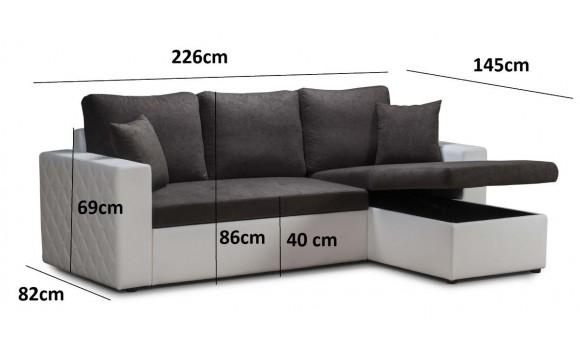 Canapé angle réversible messina