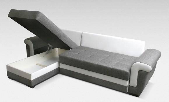 Canapé d'angle convertible réversible latte