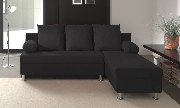 Canapé angle tissu polo