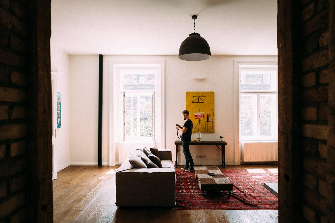 Aménagement salon tapis