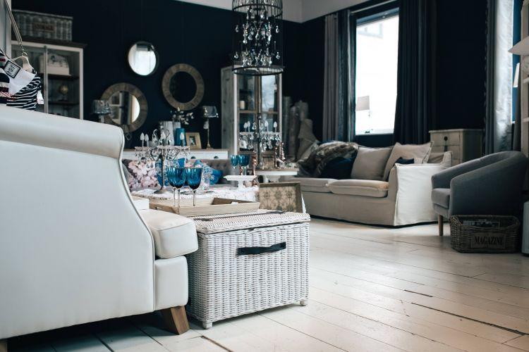 salon blanc canapé blanc table blanche